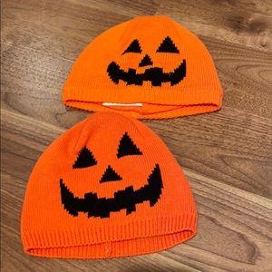 Two 2T - 3T Gymboree pumpkin hats!